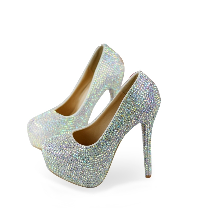 Rhinestone Super High Heel Wedding Shoes Gorgeous AB Crystal Cinderella Prom Shoes Matric Graduate Farewell Ceremony PumpsRhinestone Super High Heel Wedding Shoes Gorgeous AB Crystal Cinderella Prom Shoes Matric Graduate Farewell Ceremony Pumps