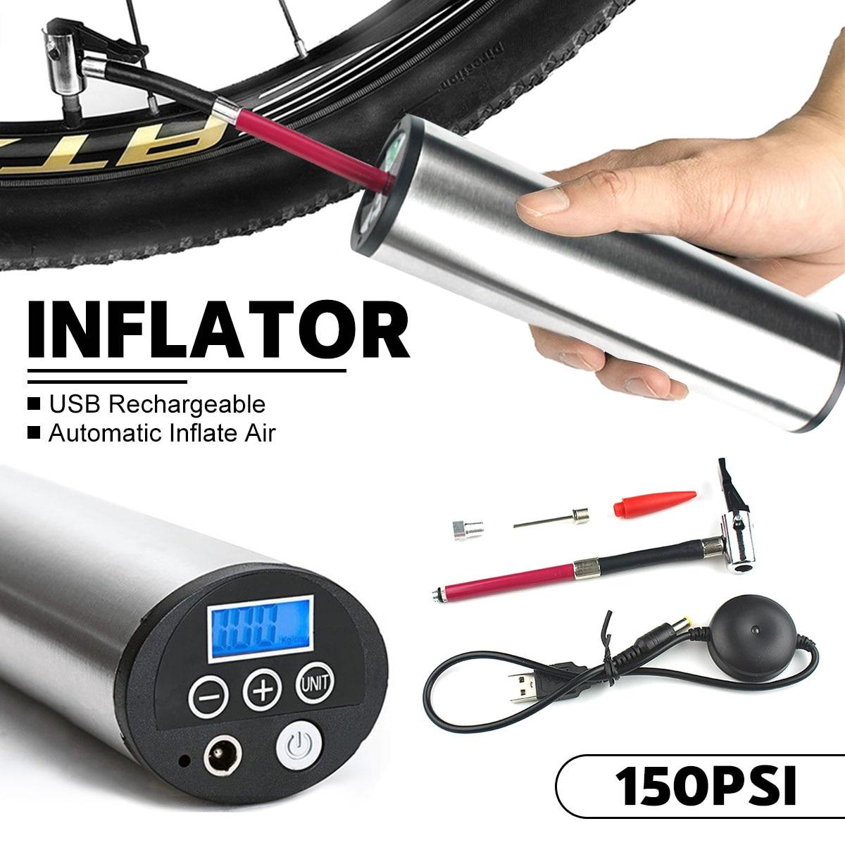150PSI gonfleur de pneu Rechargeable électrique Portable voiture vélo pompe à vélo Auto compresseur d'air pompes à vélo avec affichage LCD