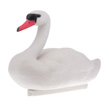 XPE Life Size White Swan Hunting Decoy Swan Decoy Scarecrow Floating Hunting Decoys Garden Backyard Pond Decoration Ornament(China)