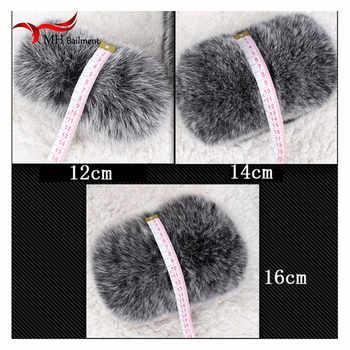 2019 winter fashion black fox fur cuffs authentic female fox fur cuffs women\'s ladies bracelet wristband arm warm M1