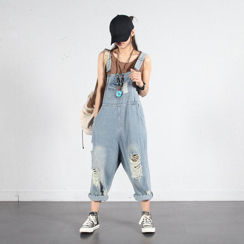 Damen Mode Sleeveless Lose Overall Playsuit Feste Latzhose Bib Einteilige Hosen