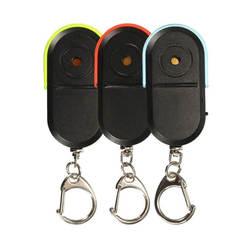 MOOL беспроводной анти-потерянный устройство для поиска ключа брелок для ключей с локатором со Звуком Свистка светодиодный свет