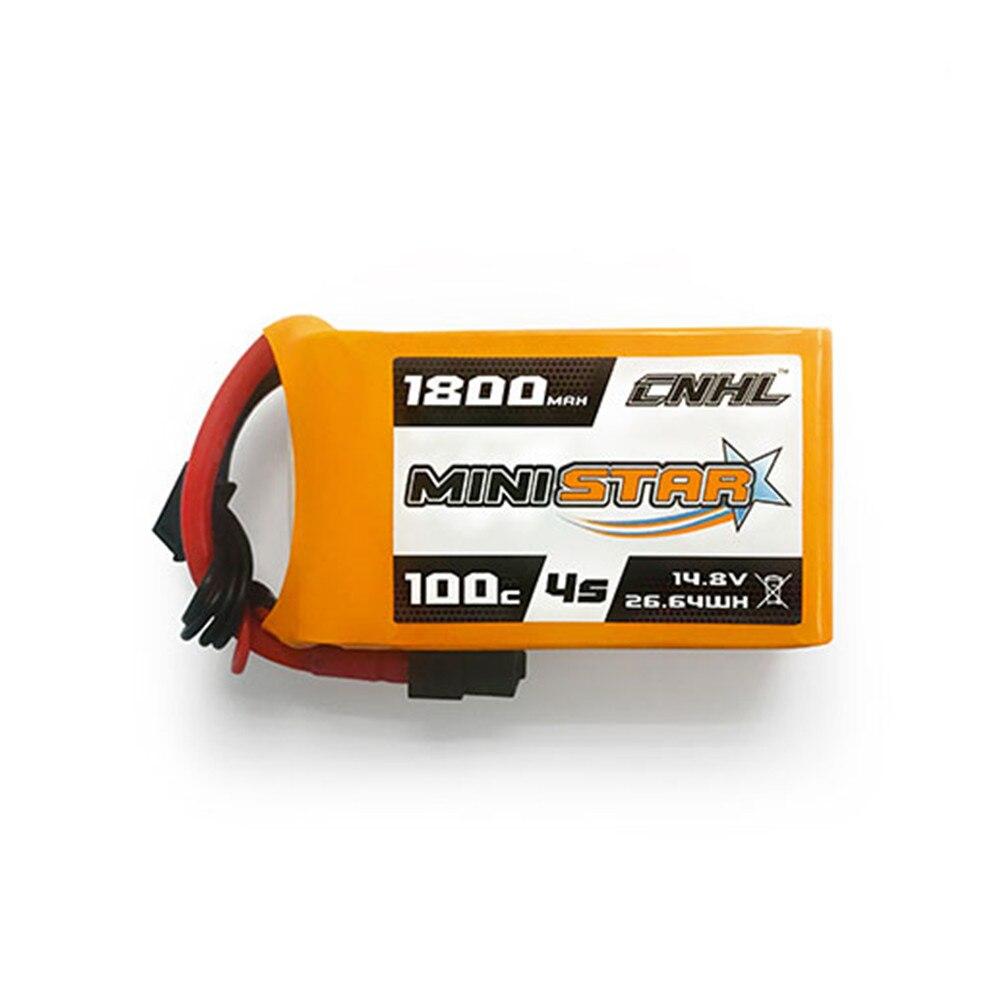 LEORY CNHL MiniStar 4 S 14.8 V 1800 mAh 100C batterie Lipo avec prise XT60 pour Drone RC FPV Racing