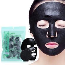лучшая цена 30PCS Black Compressed Mask Disposable Facial Natural Bamboo Charcoal Black Mask Paper Skin Care Wrapped Masks DIY Beauty Makeup
