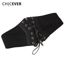 CHICEVER 2019 Fashion Black Bandage Slim Belts For Women Cum