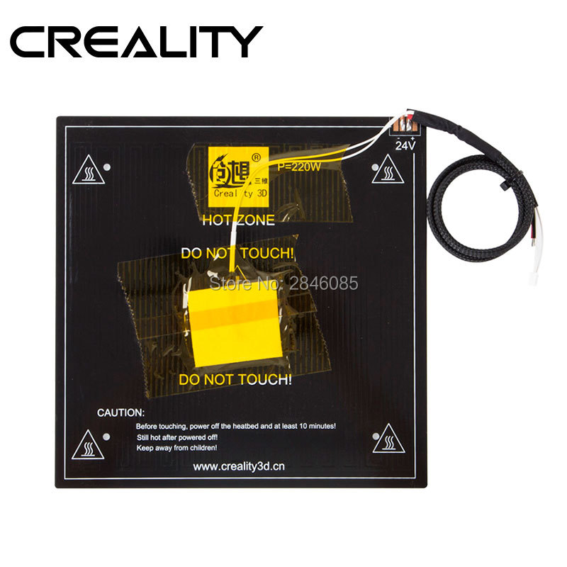 Creality 3D Parts MK3 Hot Bed Board Kit+Cable 220W 24V 3MM For Hot Ender-3 Pro Printing Size 220*220*250mm 3D Printer hot pre sale creality 3d ender 3 large print size 220 220 250mm prusa 3d printer diy kit heated bed resume power off function