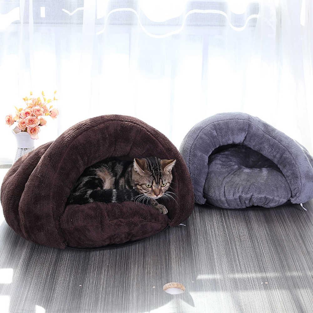 Плюшевый питомец кошка подстилка для лежанки коврик теплый маленький собаки щенок домашний спальный мешок мягкий теплый хлопок кошка кровать дом товары для домашних животных кошек поставки