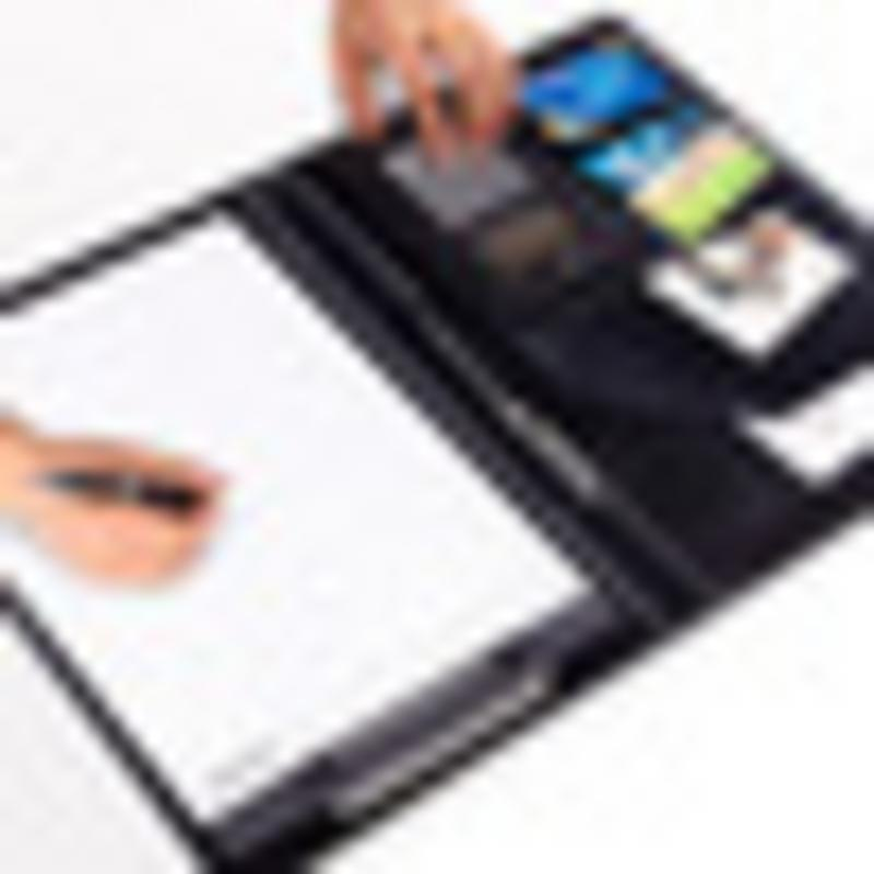 A4 PU Leather File Folder Case With Calculator Notebook Writing Pad Business Document Planner Organizer Office Supply 8 packets file folder a4 pu ring binder display notebook folders with calculator document bag organizer business office supplies