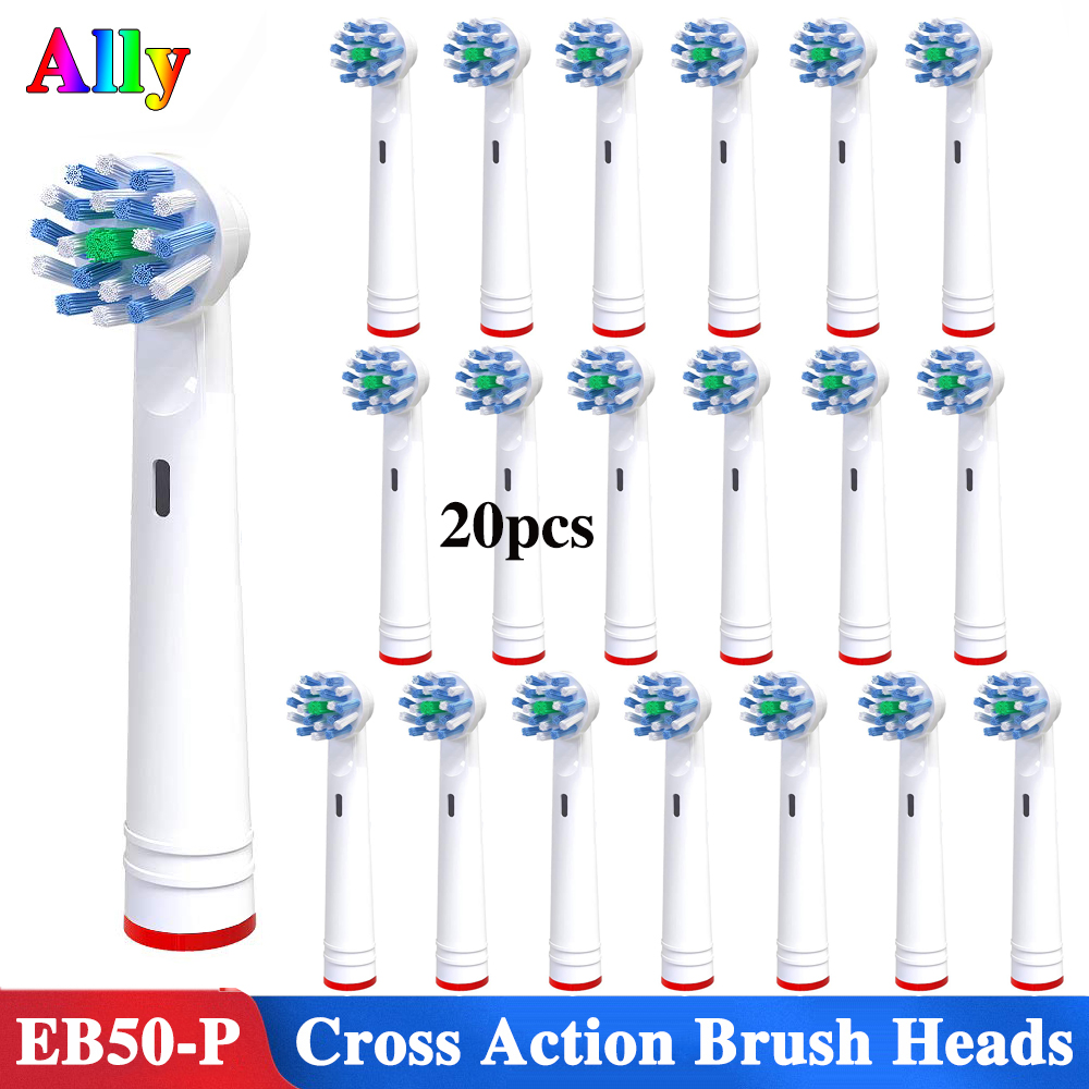 20pcs Electric Toothbrush Heads Replacement Brush Heads For Oral B Triumph Vitality IBrush Cross Action Toothbrush Heads