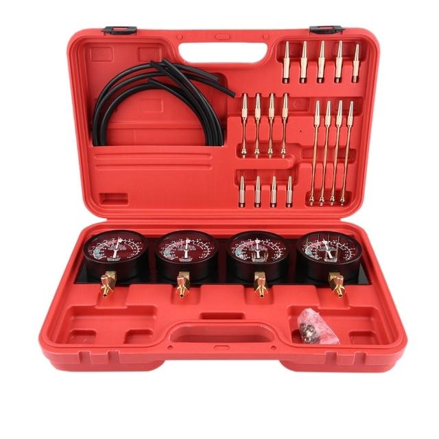 4Pcs Motorcycle Fuel Vacuum Carburetor Carb Synchronizer Tool Balancer Gauge Kit New