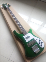 Classical ricken 4003 version,metal green model bass guitar,backer bass,Chinese factory direct,wholesale
