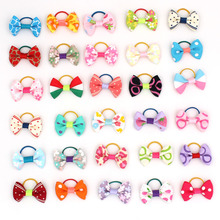 30PCS/pack Assorted Pet Cat Dog Hair Bows with Rubber Bands Grooming Accessories Cute Headwear for Small Dogs  OR029