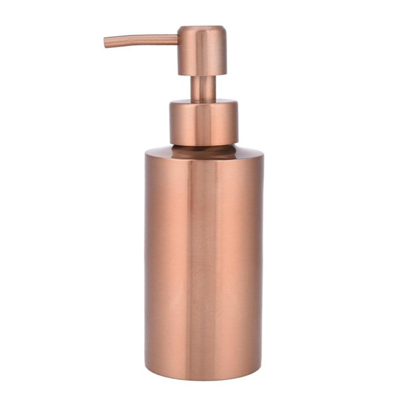 LBER Stainless Steel Rose Gold Soap Dispenser Bathroom Hand Pump Liquid Soap Dispenser Lotion Bottle Bathroom Tool