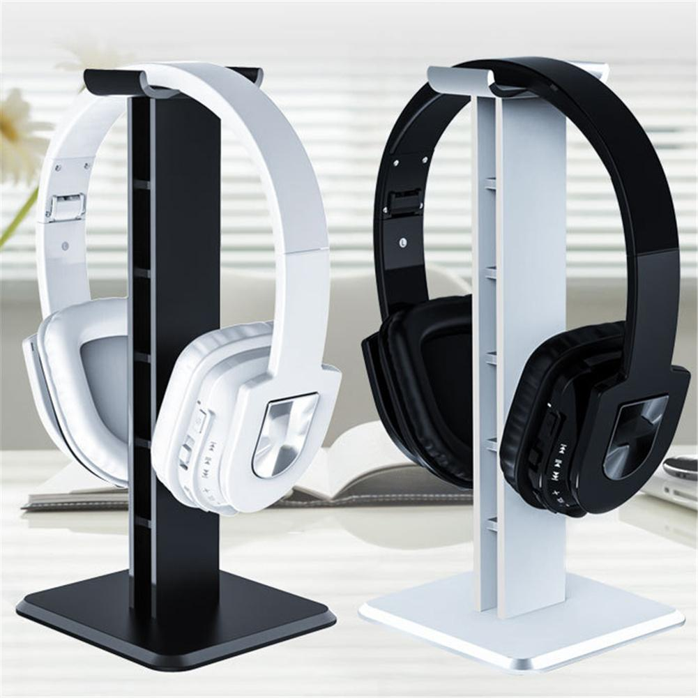 Image 2 - Headphone Holder Head Mounted Hook Display Shelf Headphone Bracket Hanger Support Bracket Black White 10cm*10cm*25cm New-in Earphone Accessories from Consumer Electronics