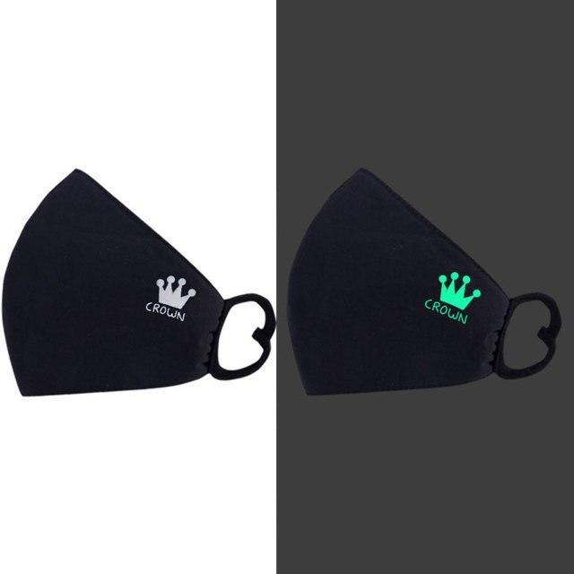 Cotton Luminous Masks Face Masks Air Pollution Black Anime Anti Dust Masks Windproof Proof Flu Face Mask Facial Mask Fashion 3