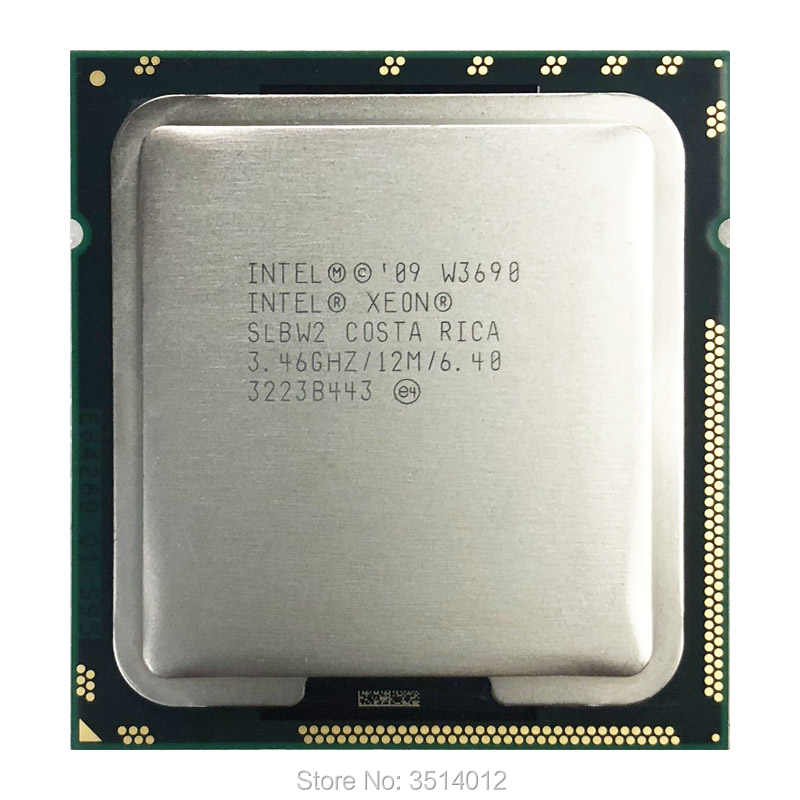 Intel Xeon W3690 3.4 GHz Six-Core Twelve-Thread CPU Processor 12M 130W LGA 1366