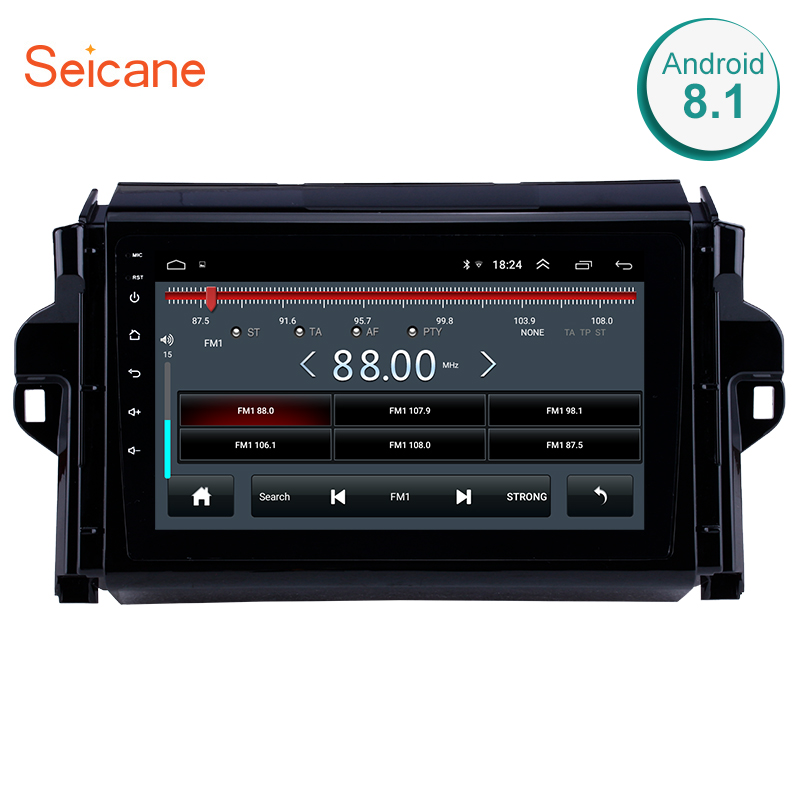Seicane 2din 9 Inch Android 8.1 GPS Car Radio For 2015 2018 TOYOTA FORTUNER/ COVERT Multimedia Player Wifi Touchscreen Head Unit