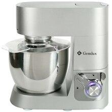 Миксер GEMLUX GL-SM612 (Мощность 1200Вт, 8 скоростей , чаша 6 л, крюк для теста, плоский битер, венчик , алюминиевый корпус)