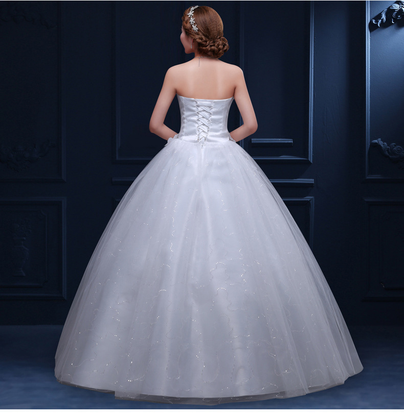 Crystal Wedding Dresses Sweetheart Sleeveless Tulle Ball Gown Lace Up Cheap Formal Bride Wedding Dresses 2019 Robe De Mariee