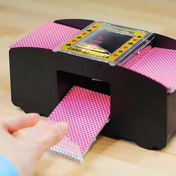 Gra planszowa karty do gry w pokera drewniane elektryczne automatyczne tasowanie kasyno Robot karty do pokera tasowanie tasowanie maszyny tanie i dobre opinie Poker Card Drewna 14 lat Normalne Książka 0-30 minut Podstawowym Nieograniczona Card shuffler