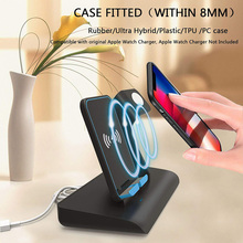 Mayround 2 in 1 Fast Qi Wireless Charger Stand for iPhone XS Max 8 Samsung Galaxy Xiaomi Huawei Mate 20 Pro LG Apple Watch