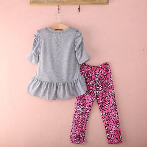 2PCS Toddler Kids Baby Girls Tops Dress Long Pants Leggings Outfits Clothes 2-7Y Karachi