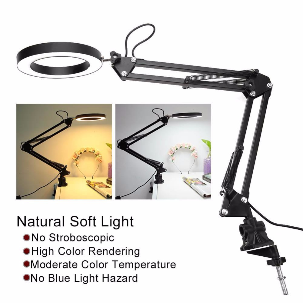 Skillful Knitting And Elegant Design Gentle Led Desk Flexible Reading Eye Table Metal Hose With Clip Salonnail Art Tattoo Light Accesories V To Be Renowned Both At Home And Abroad For Exquisite Workmanship Personal Health Care