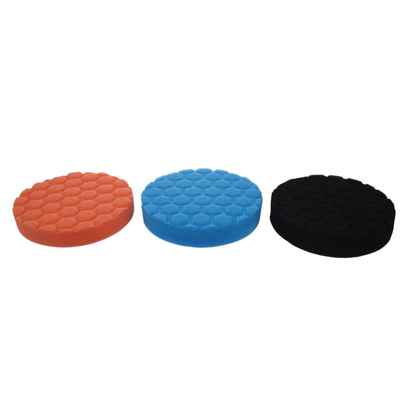 3x Hex-Logic Buff Buffering Polishing Pad Kit For Auto Car Polisher 6 Inch