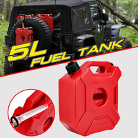 5L Mount Motorcycle Spare Fuel Tank Jerry Cans Plastic Car Petrol Tanks Oil Container Backup Oil Can Motorcycle Accessories Red