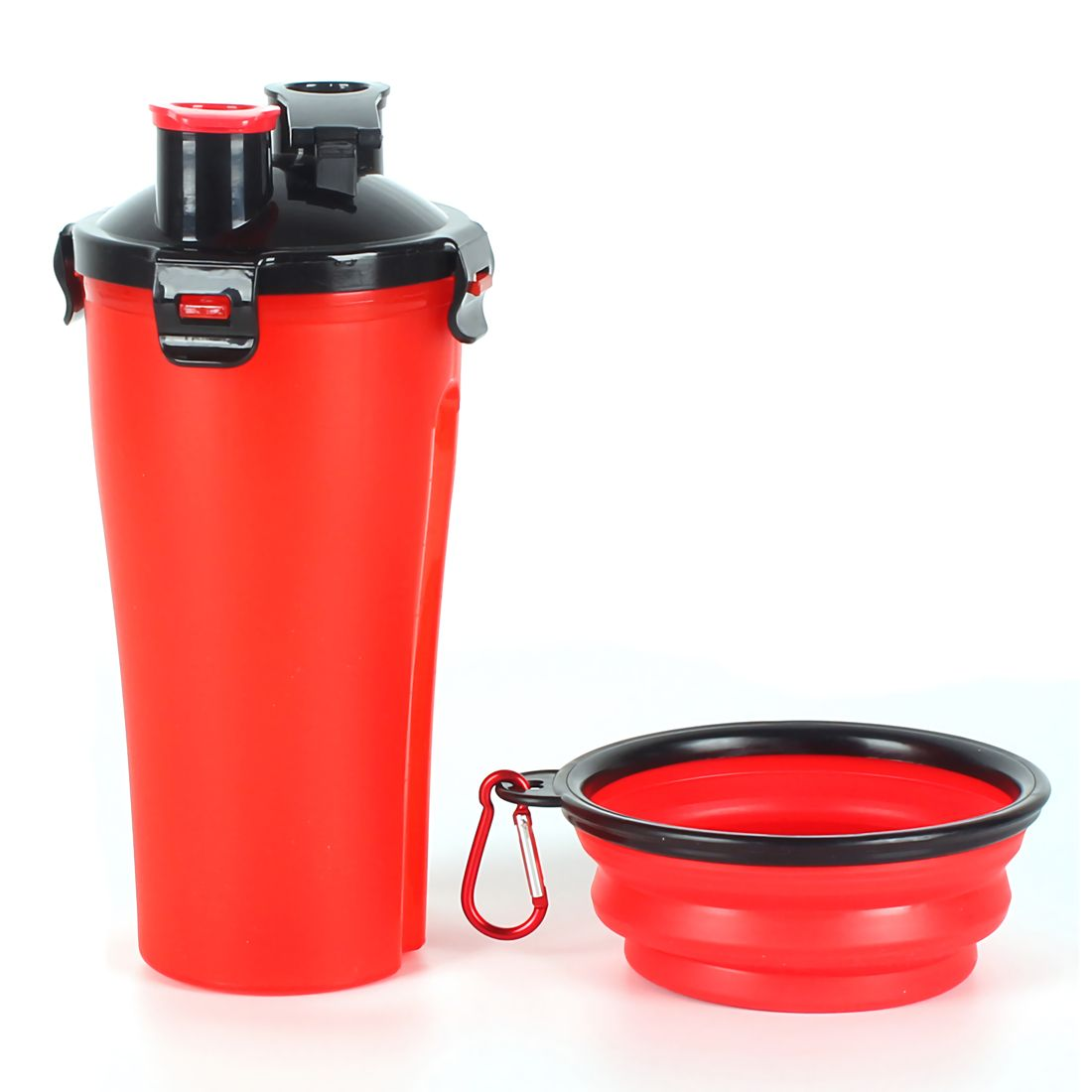 300ml Portable Pet Dog Water Bottle Travel Dog Bowl Cups: Pet Drinking Water Bottle With Bowl,2 In 1 Portable Pet
