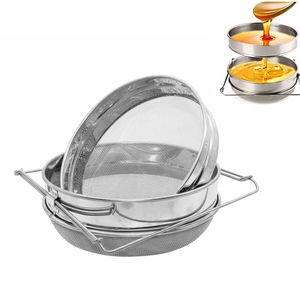 Stainless Steel Double-layer Honey Sieve Filtration Bee Honey Filter Strainer Machine Tool Extractor Beekeeping Tools(China)