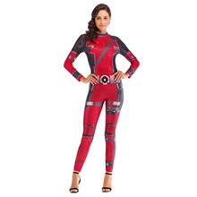 VIP Fashion Super Hero Deadpool Cosplay Anime Kostum Baju Kostum Seksi untuk Wanita Plus Ukuran Jumpsuit(China)