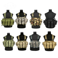 Outdoor Hunting Ciras Tactical Military Airsoft Vest Plate Carrier Unloading Chest Rig Bag Molle Camping Travel Sport Trecking 5