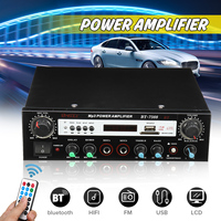 240W+240W Stereo Bass Radio Audio Amplifier bluetooth 12/220V Hi Fi Subwoofer Digital Car Home Theater Amplifier Remote Control