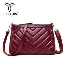 LIKETHIS Women Crossbody Bag Wild Shoulder Bag New Arrival PU Leather Women Fashion Messenger Bag Simple Design Small Female Hot