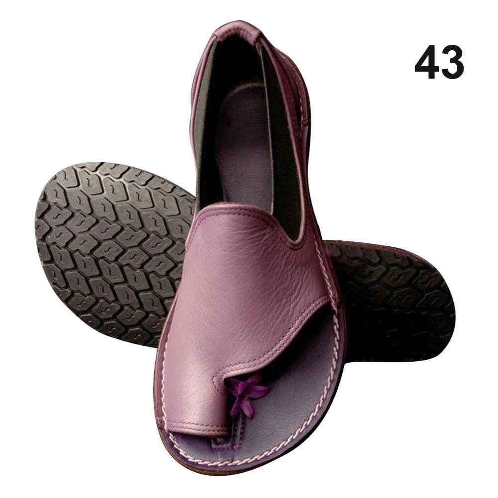 Kadın deri ayak şekli düzeltme platformu sandalet ayakkabı bunyon düzeltici ayak bakımı ağrı kesici rahat yaz sandalet 4