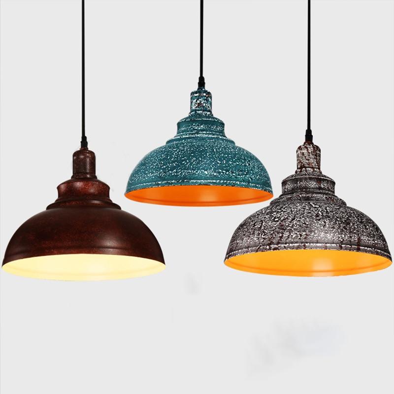 Vintage Retro Pendant Lights Night Lamp Industrial Loft Iron Fixture Cafe Restaurant Home Decoration Indoor Lighting 4 Colors фигурка декоративная астра бабочка цвет желтый черный 22 х 35 мм 4 шт