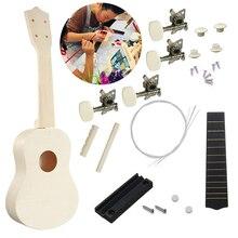 DIY Ukulele Kit Handmade Hawaii Ukulele Kit Musical Instrument Toy Hawaii Guitars Development Toys for Kids