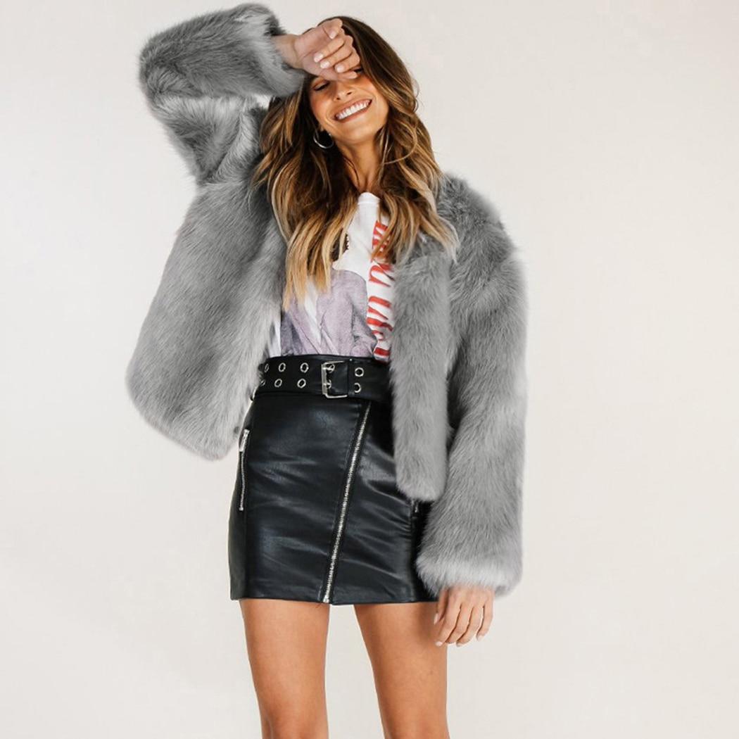 8873115f05b Fashion Streetwear Cardigans Outerwears Pink Faux Fur Coats Plus Size  Outwear Ladies Fluffy Coat Warm Hairy