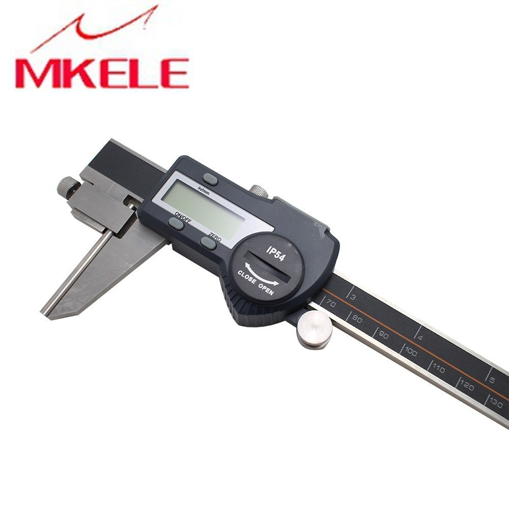 0 200mm Tube Thickness Digital Vernier Caliper High Accuracy Digital Micrometer IP54 Waterproof Free Shipping in Calipers from Tools