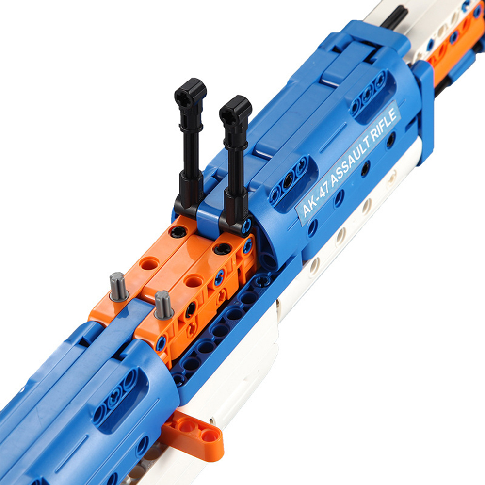 cada technic building blocks AK-47  gun  military legou toy bricks weapon set can fire  rubber band  toys for children boys kids 2