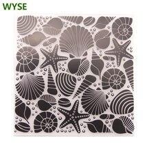 Wyse Морская звезда пластиковые папки для тиснения фона рукоделия