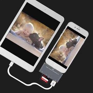 Image 5 - OTG כרטיס קורא לייטנינג ל usb SD חכם מצלמה כרטיס קוראי מתאם עבור iPhone iPod Apple זיכרון כרטיסי שימוש לא אפליקציה צריך