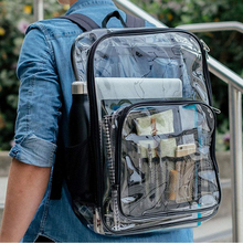 Clear Transparent Pvc Backpack For Adults And Students See Through Bookbag Knapsack Daypack Backpack Men Travel Beach Bags