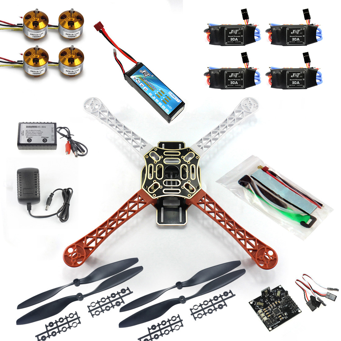 F02192-B RC Quadcopter 4 axle Drone ARF Kit No TX RX : KK V2.3 Flight Control A2212 1000KV Motor <font><b>30A</b></font> <font><b>ESC</b></font> Lipo F450 Flamewheel Fs image