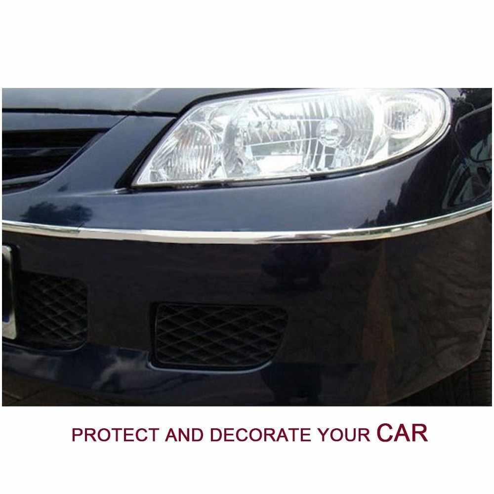 Car Styling Auto Auto Adesivo Porta Laterale Cromato Striscia Della Decorazione di Stampaggio Paraurti Protezione Trim Nastro