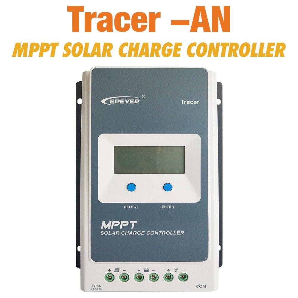 EPever MPPT Solar Controller Tracer 4210an 40A 30A 20A 10A Solar Panel Regulator for 12V 24V