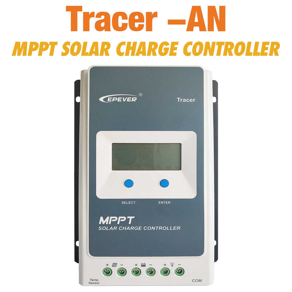 EPever MPPT Solar Controller Tracer 4210an 40A 30A 20A 10A Solar Panel Regulator for 12V 24V Lead Acid Lithium-ion Battery