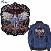 Pulaqi защищает наши права патчи для одежда из железа на Орле аппликации большой байкер патч пришить на куртки наклейки прохладные Parches H