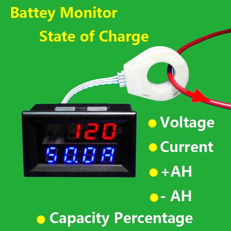 Accurato Sala Di Coulomb Del Tester Della Batteria Monitor 5 V-120 V 0-400a Di Tensione Di Corrente Residua Di Ricarica Capacità Di Scarico 12 V 24 V 36 V 48 V Auto Garanzia Al 100%